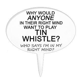 Right Mind Tin Whistle Cake Picks