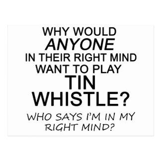 Right Mind Tin Whistle Postcard
