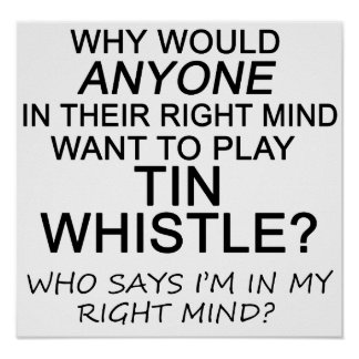 Right Mind Tin Whistle Poster