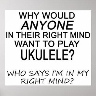 Right Mind Ukulele Poster