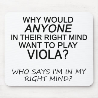 Right Mind Viola Mouse Pad