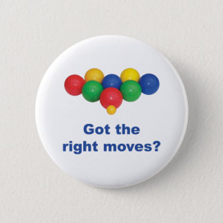 Right Moves Bocce Ball 6 Cm Round Badge