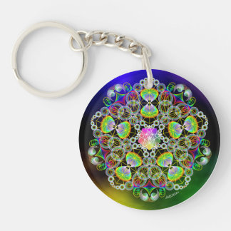 Right Now/Appreciation Double-Sided Round Acrylic Key Ring
