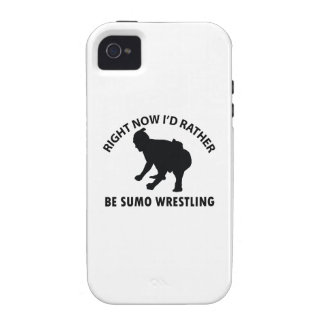 Right now I'd rather Sumo Wrestling gift items iPhone4 Case