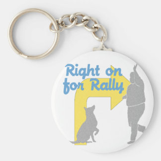 Right On For Rally Basic Round Button Key Ring
