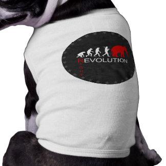 RIGHT REVOLUTION (white) Doggie T Shirt