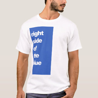 Right Side Of The Blue Snooker t-shirt