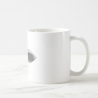 Right sideways pointed bomb coffee mug