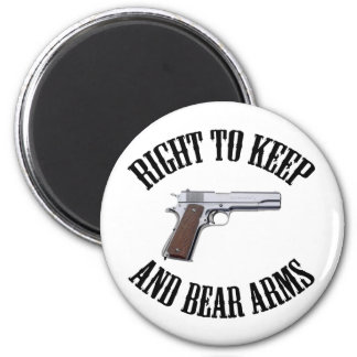 Right To Keep And Bear Arms 1911 6 Cm Round Magnet