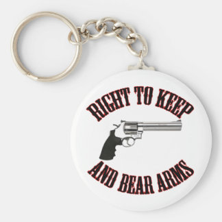 Right To Keep And Bear Arms Revolver Basic Round Button Key Ring