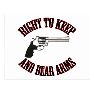 Right To Keep And Bear Arms Revolver Postcards