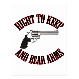Right To Keep And Bear Arms Revolver Post Card