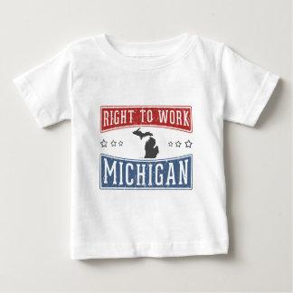 Right To Work Michigan Baby T-Shirt