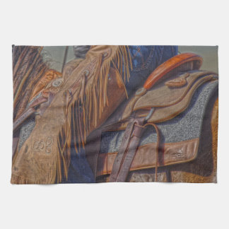 Right Where I Belong Western Cowgirl Kitchen Towel