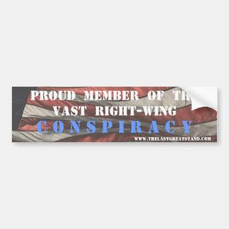 Right Wing Conspiracy Magnet/Bumper Sticker Bumper Sticker
