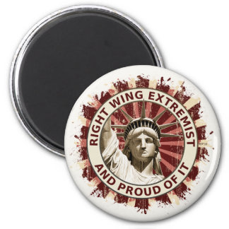 Right Wing Extremist 6 Cm Round Magnet