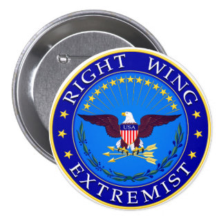 Right Wing Extremist 7.5 Cm Round Badge