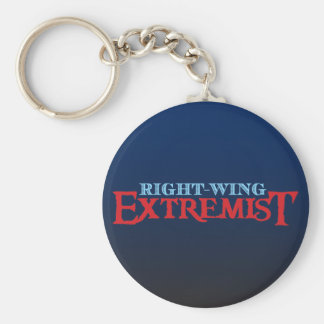 Right-Wing Extremist Basic Round Button Key Ring