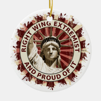 Right Wing Extremist Christmas Ornament