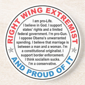 Right Wing Extremist Coaster