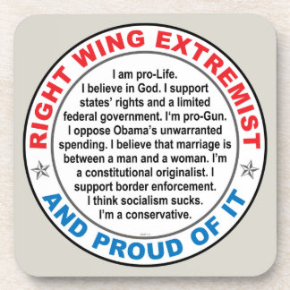 Right Wing Extremist Drink Coaster