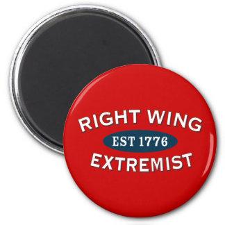Right-Wing Extremist Est 1776 6 Cm Round Magnet
