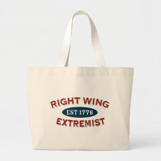 Right-Wing Extremist Est 1776 Jumbo Tote Bag