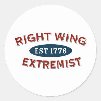 Right-Wing Extremist Est 1776 Round Sticker