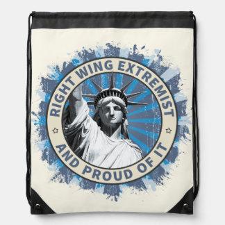 Right Wing Extremist Drawstring Bag