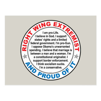 Right Wing Extremist Postcard