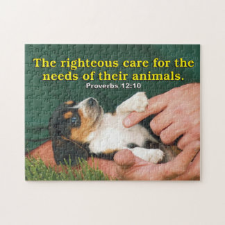 Righteous Care For The Needs Of Their Animals Jigsaw Puzzle
