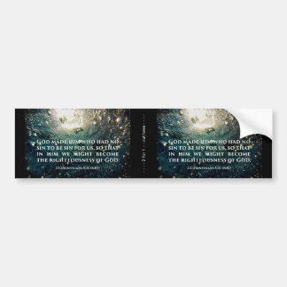 Righteous of God 2 Corinthians 5:21 Scripture Art Bumper Sticker