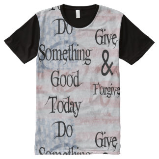 RightOn Do Something Good All-Over Print T-Shirt