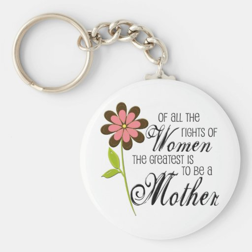 Rights of Women Key Chain