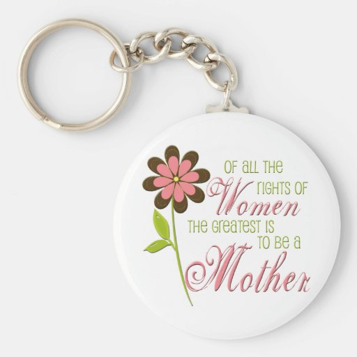 Rights of Women Pink Keychain