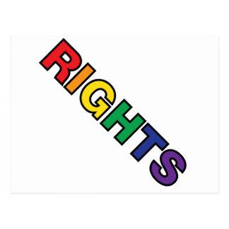 RIGHTS vertical design Postcard