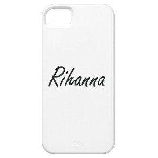Rihanna artistic Name Design Barely There iPhone 5 Case