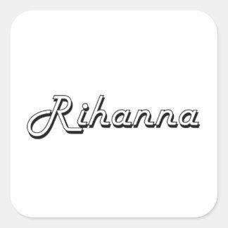 Rihanna Classic Retro Name Design Square Sticker