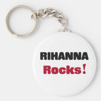 Rihanna Rocks Basic Round Button Key Ring