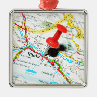 Rijeka, Croatia Christmas Ornament
