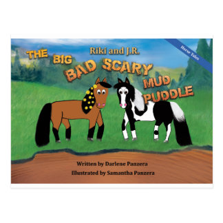 Riki and J.R.The Big Bad Scary Mud Puddle Horse Postcard