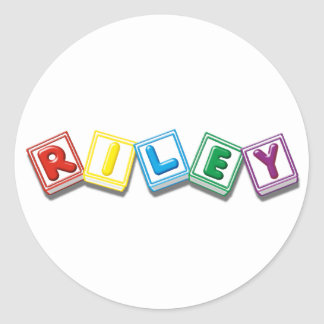 Riley Classic Round Sticker