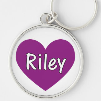 Riley Silver-Colored Round Key Ring