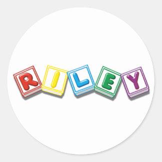 Riley Round Sticker