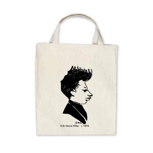 Rilke Caricature Tote Bag