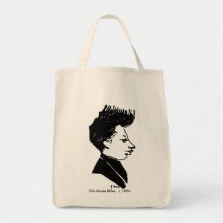 Rilke Caricature Grocery Tote Bag