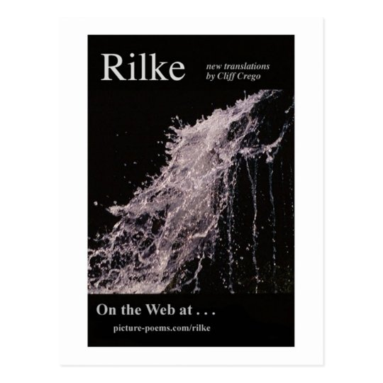 RILKE WEBSITE POSTER POSTCARD