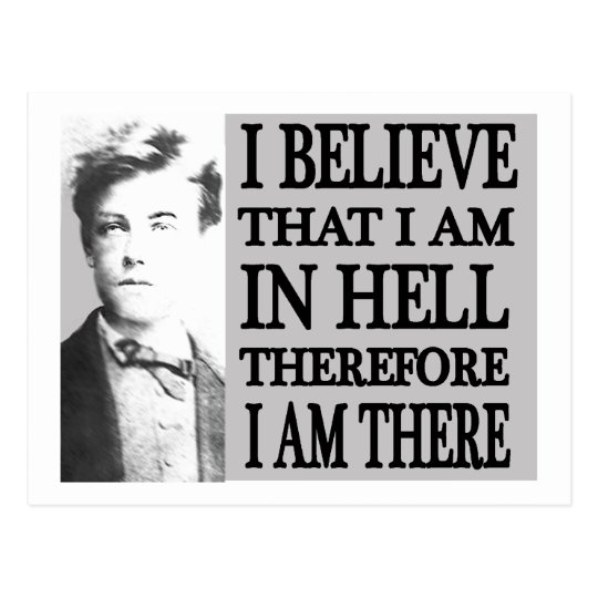 Rimbaud in Hell Postcard