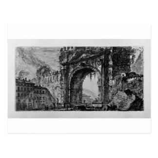 Rimini bridge manufactured by the Emperors Augustu Postcard