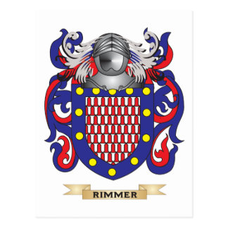 Rimmer Coat of Arms (Family Crest) Post Card